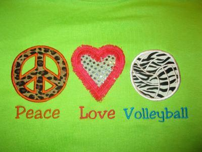 peace love volly ball