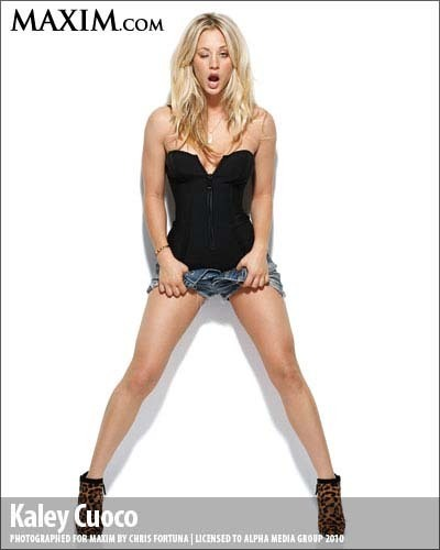 Kaley on Maxim magazine