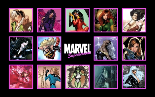 Marvel Superheroines Widescreen wallpaper