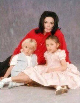 Michael Jackson with Prince and Paris