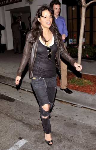 Michelle Rodriguez parties at a bar in West Hollywood, 3 February 2010