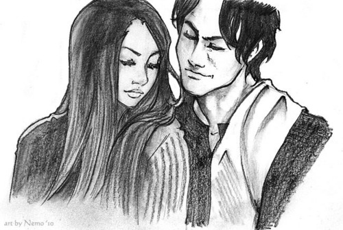 damon and elena fanart