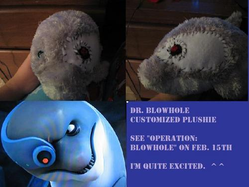 Customized Dr. Blowhole Plushie