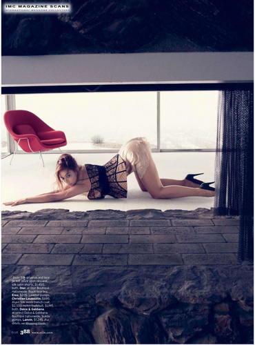 Olivia Wilde Photo Spread in the March 2010 Issue of Elle Magazine