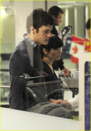Adam Brody: LAX Airport with Female Friend