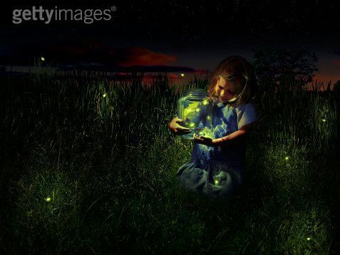 Girl with Fireflies