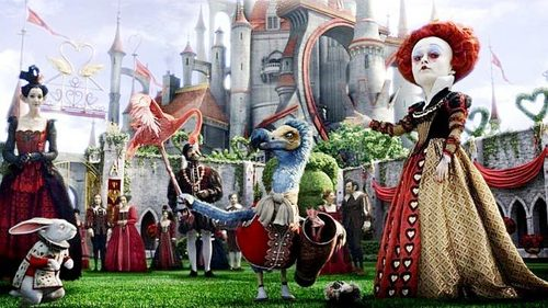 New Image of The Red queen from Tim Burton's 'Alice In Wonderland'