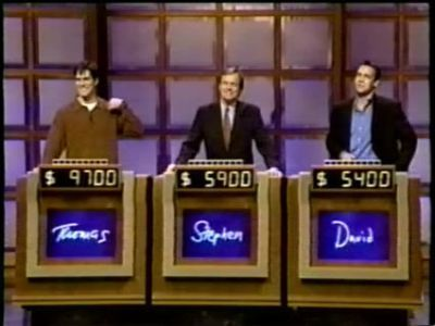 Thomas in the game show, Jeopardy