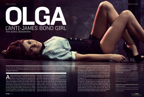 Olga Kurylenko | L'Optimum Magazine Scans (March 2009)