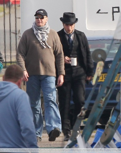"More Pics of Rob on Set for ""Bel Ami"""