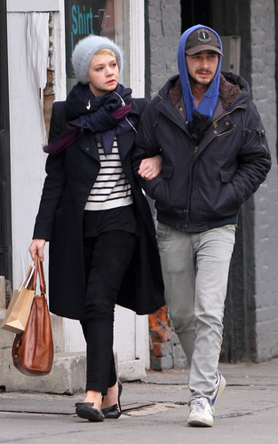 Shia LaBeouf and Carey Mulligan out in NYC (March 2)