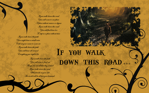 Alice in Wonderland Wallpaper - If You Walk Down This Road