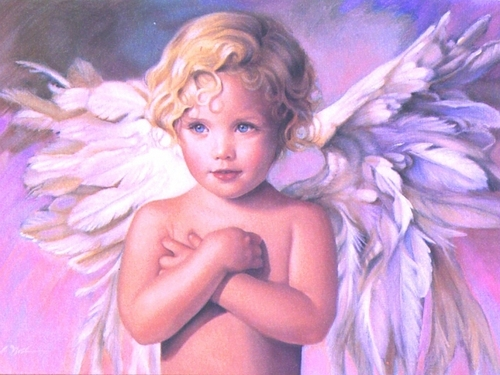 Angel Child kertas dinding