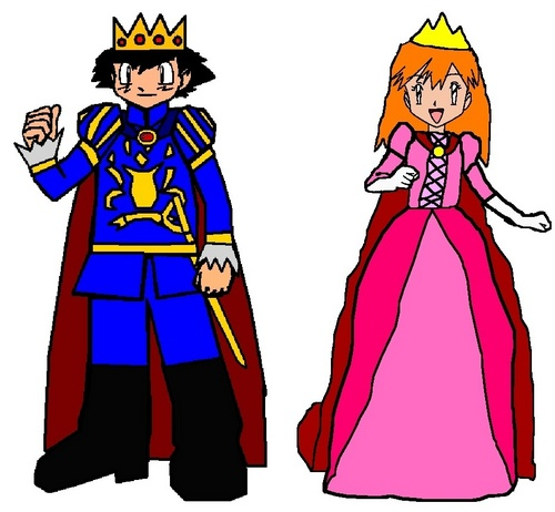Prince Ash and Princess Misty
