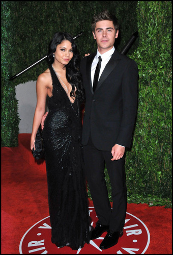 Zac & Vanessa on Red carpet of Oscars