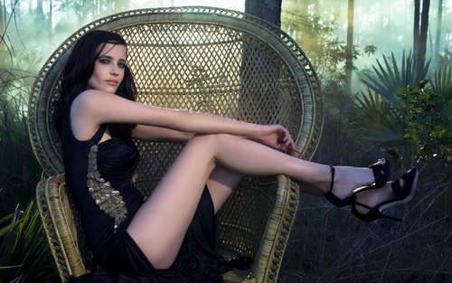 Eva Green in the forest