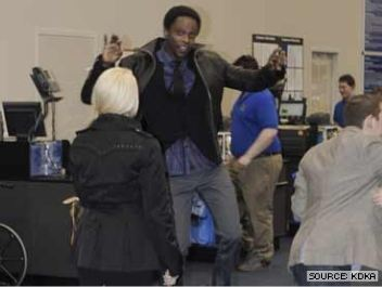 Edi Gathegi was on hand in Pittsburgh for a DVD release.