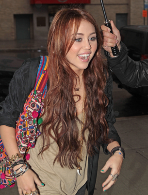 Miley out in NYC