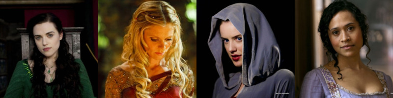 Some of the girls from merlin!