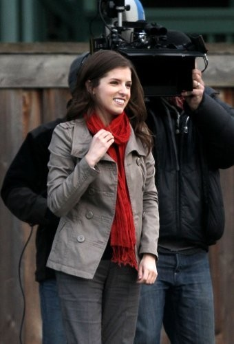 Anna Kendrick on the set of 'I'm With Cancer'