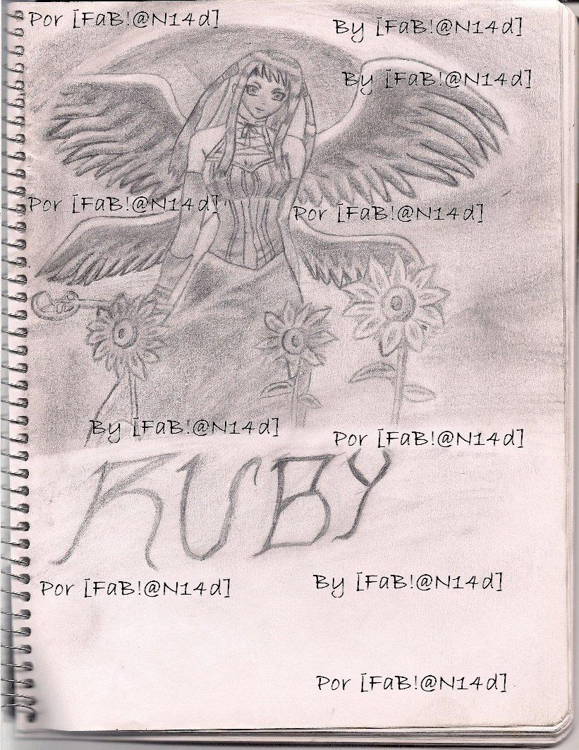 Ruby Tojo hand-drawn by my fabian14d