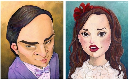 Chuck&Blair caricature