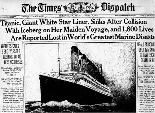 Newspapers about Titanic