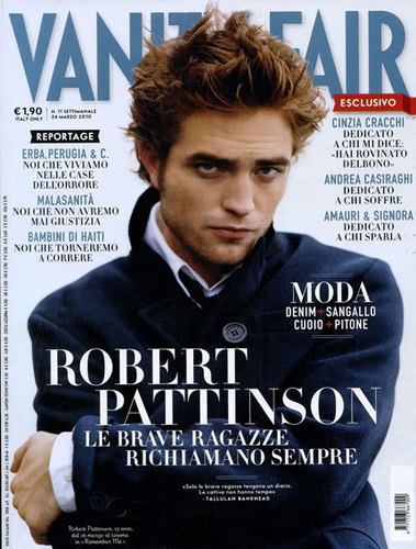 Rob on the cover of Italian Vanity Fair