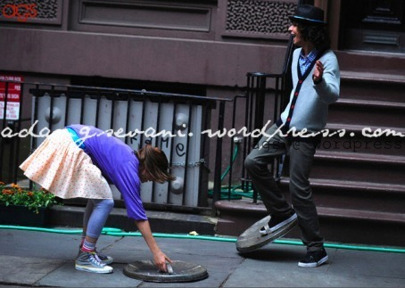 Adam G. Sevani shooting Step Up 3D in New York