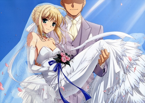 Saber get married?!! with who?