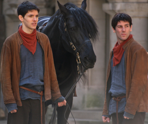 COLIN HAS A STUNT DOUBLE!