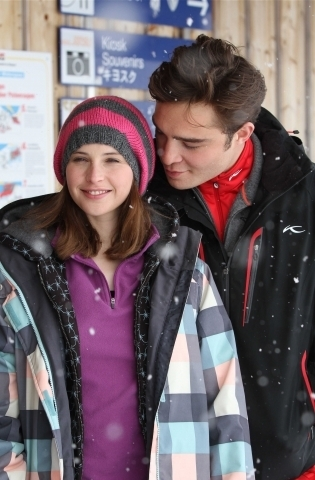 Ed bts in Chalet Girl