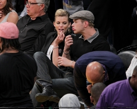 Kellan Lutz and Girlfriend AnnLynne McCord At The Lakers Game