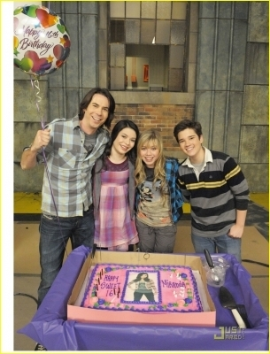 Celebrating Miranda's 16th Birthday with 'iCarly' cast