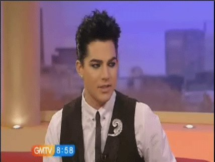 Glam nation fã poster and adam on GMTV