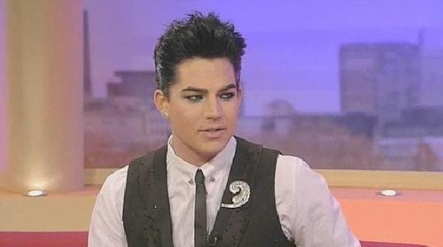 Glam nation fan poster and adam on GMTV