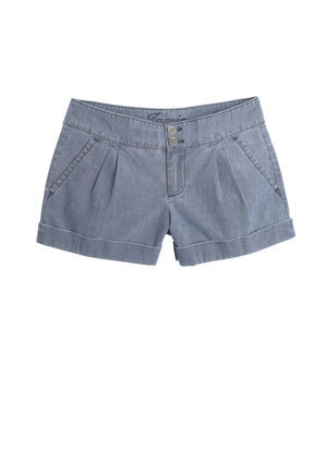 Jamie Pleated Chambray Short