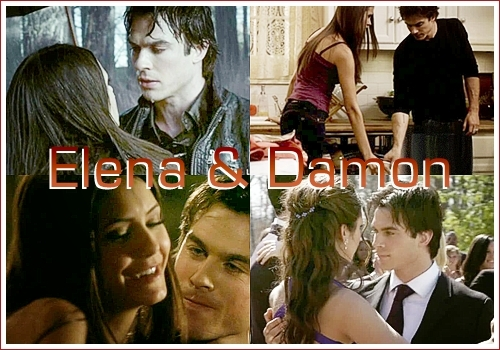 #01 - Elena Gilbert & Damon Salvatore(vampire diaries)