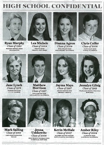 glee cast High school Yearbook foto