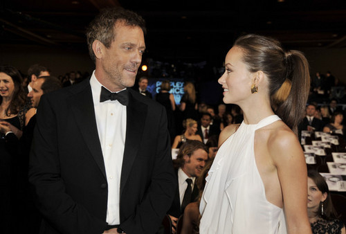 Hugh Laurie & Olivia Wilde & the CAST