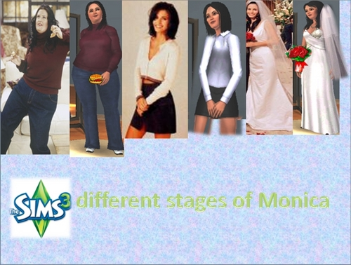 Monicas three different looks- on Sims 3