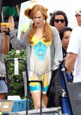 Nicole filming on location in Hawaii