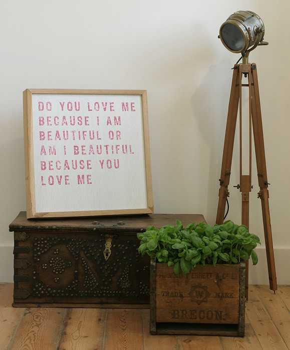'Do You Love Me' Limited Edition Wooden Art by Coulson Macleod