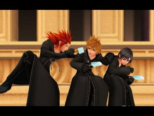 Axel,Roxas,and Xion chillin'.