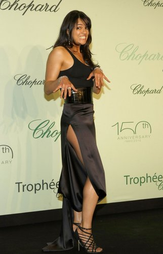 Michelle Rodriguez a Chopard Trophee at the 63rd Annual Cannes Film Festival (May 13th, 2010)