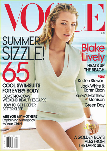 Blakely Lively covers Vogue June 2010 Issue