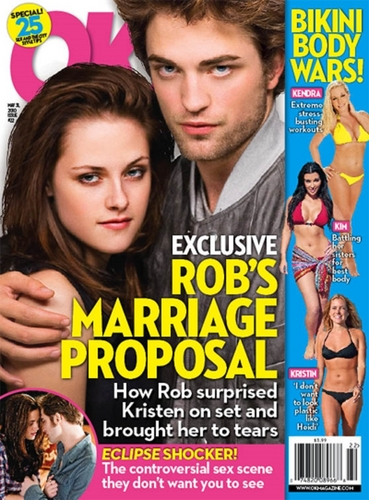 Rob and Kristen new tabloid cover