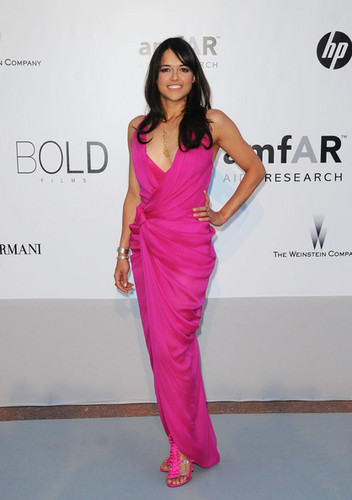 Michelle Rodriguez arrives at amfAR's Cinema Against AIDS 2010 benefit gala (May 20th, 2010)