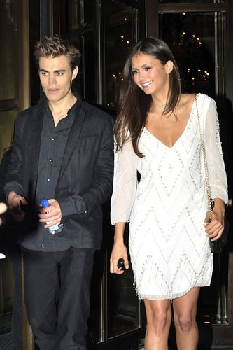 Paul and Nina leaving their hotel in NYC 19th May