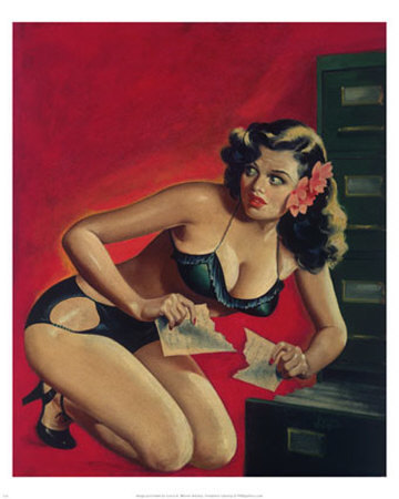 Vintage Pin Up Girl